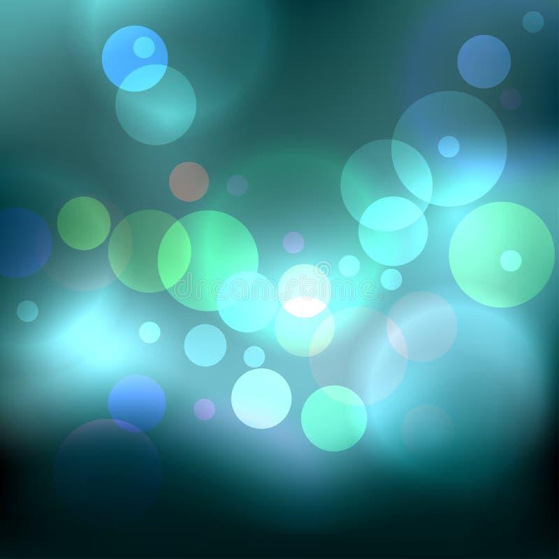 蓝色被弄脏的绿灯 向量例证