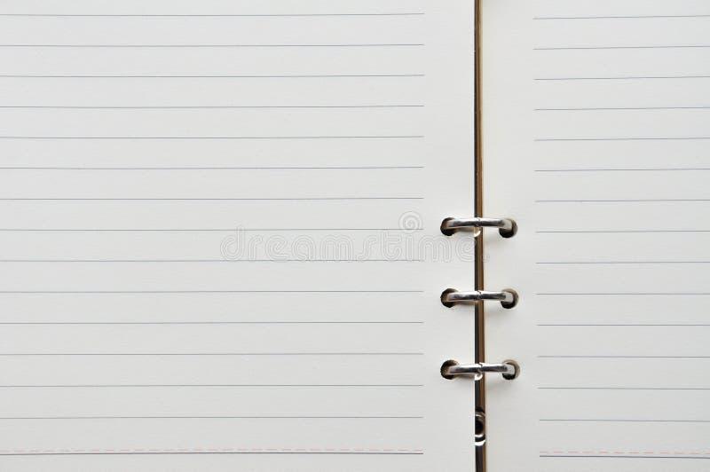 蓝色被排行的笔记本纸一张  免版税库存图片