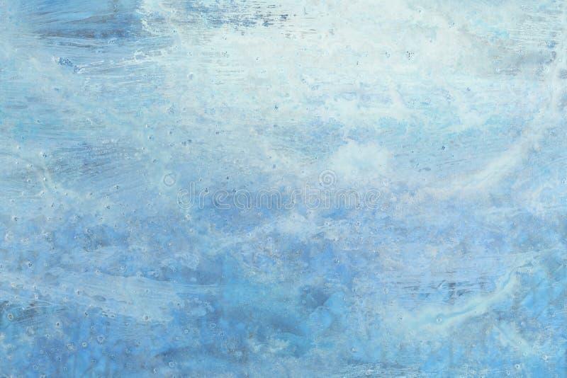 蓝色被绘的背景 库存图片