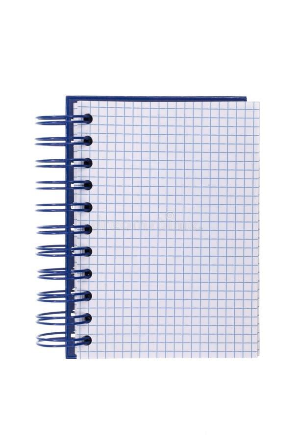 蓝色被限制的记事本螺旋 免版税库存图片