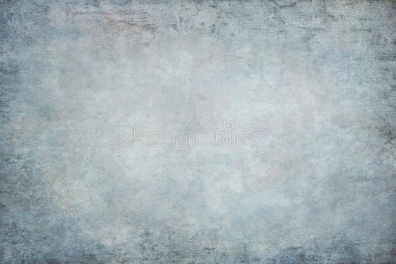 蓝色被绘的帆布织品布料演播室背景 免版税库存照片