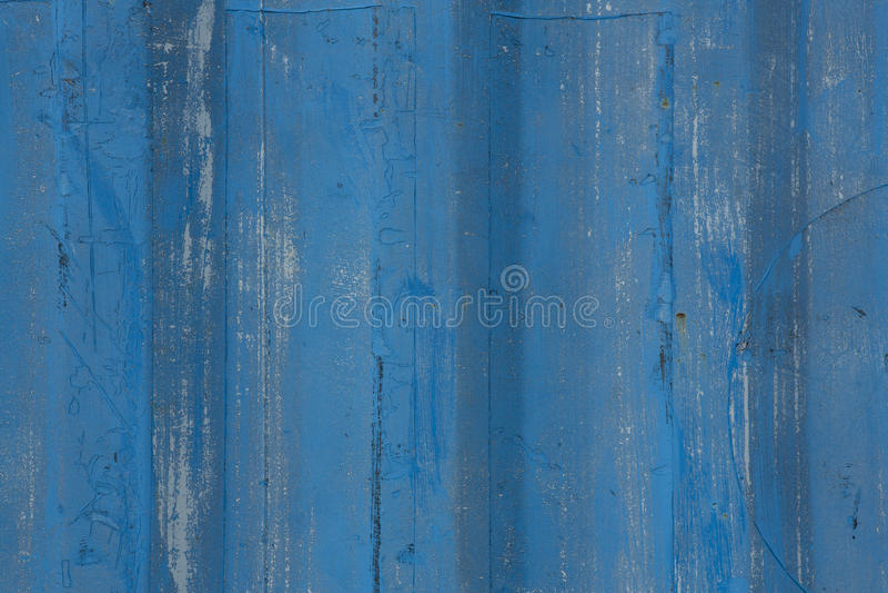 蓝色被绘的木背景 库存照片