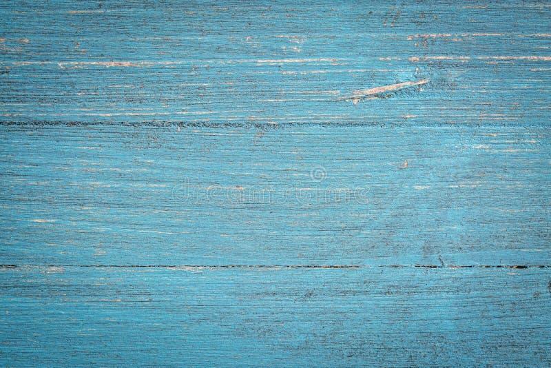 蓝色被绘的木背景 免版税库存照片