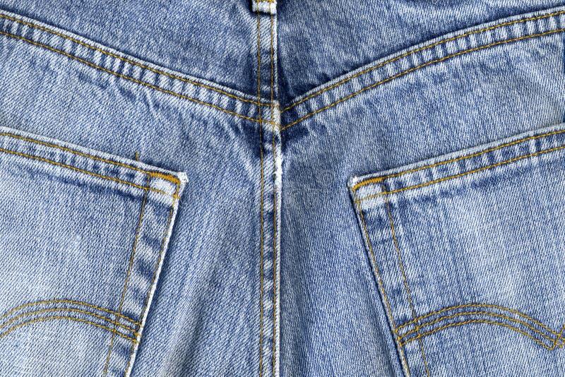 蓝色裤子使用了 库存图片