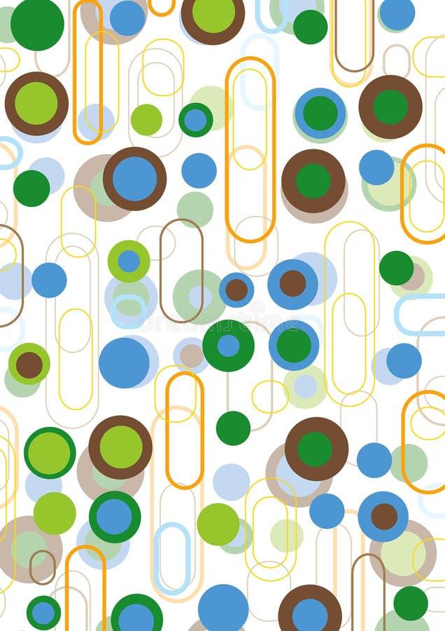 蓝色褐色减速火箭绿色的荚 向量例证
