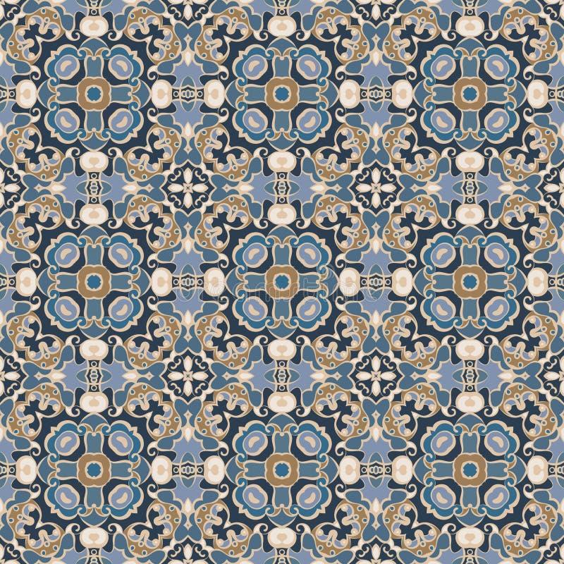 蓝色褐色模式 向量例证