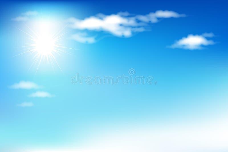 蓝色覆盖天空向量 库存例证