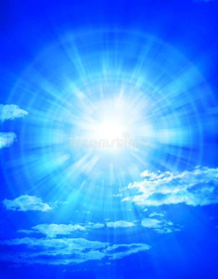 蓝色覆盖天空星期日 免版税库存照片