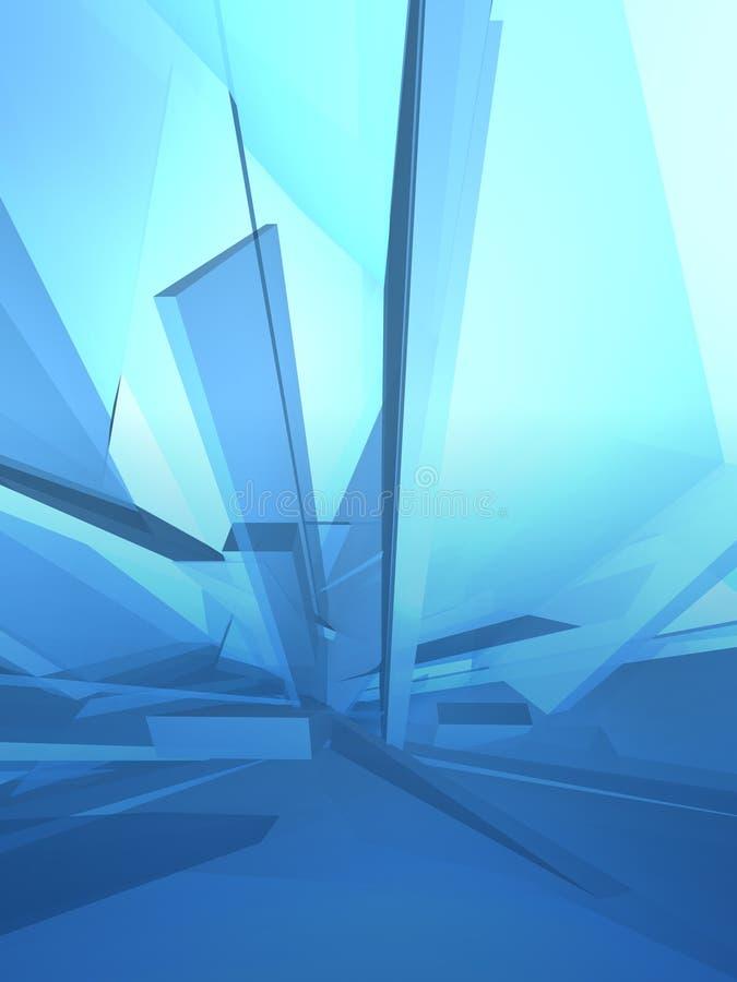 蓝色解构冰 向量例证