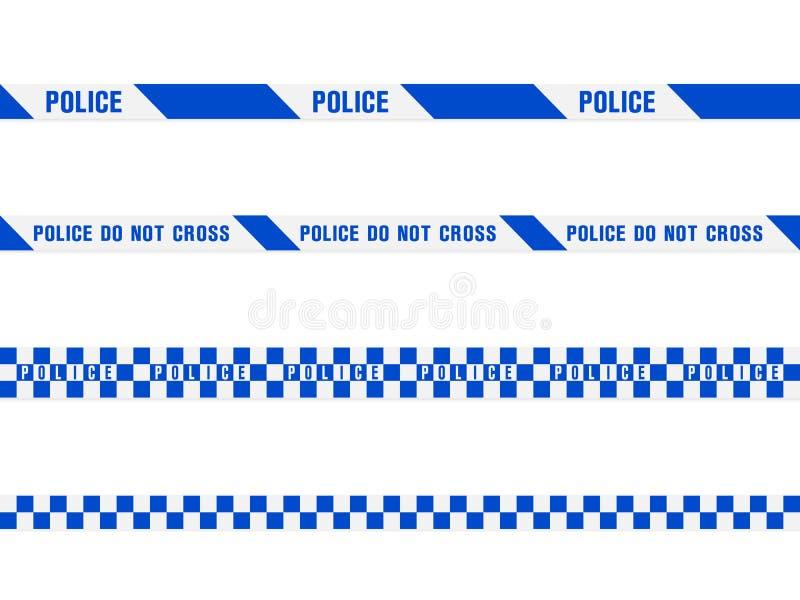 蓝色警察录音 皇族释放例证