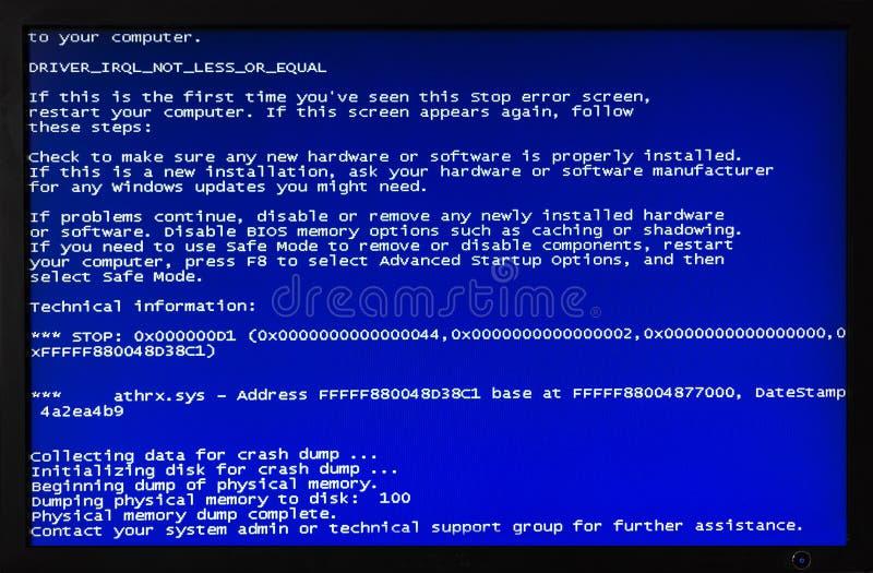 蓝色计算机屏幕 库存照片