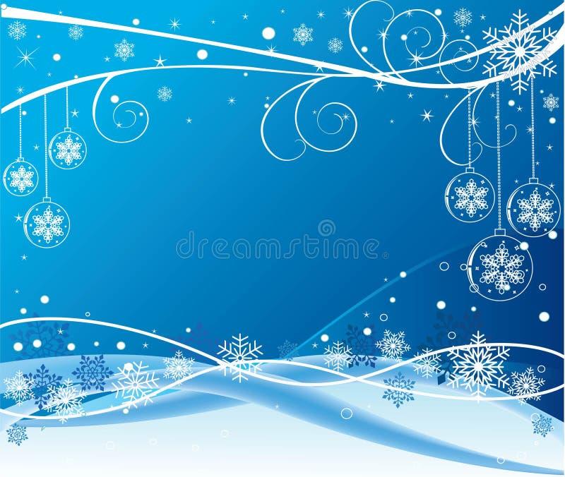 蓝色设计向量冬天 库存图片