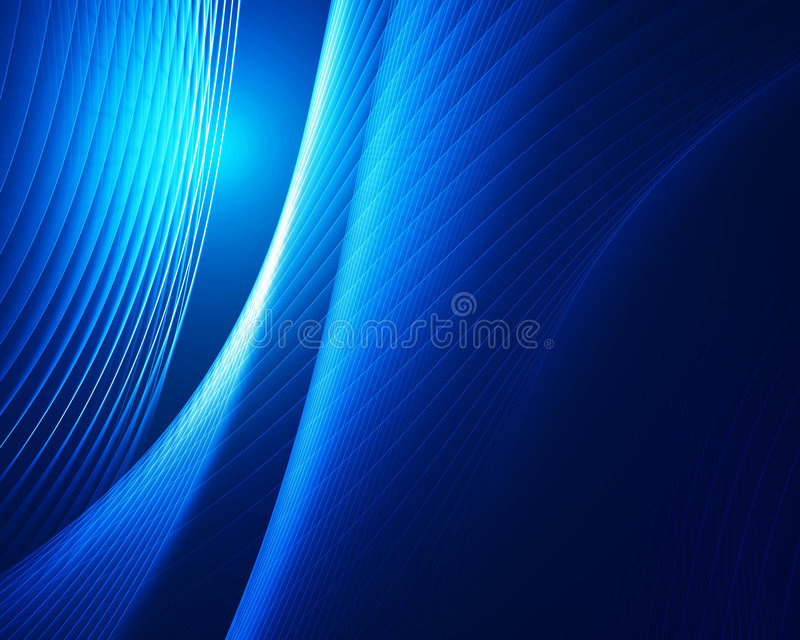 蓝色设计线路 皇族释放例证