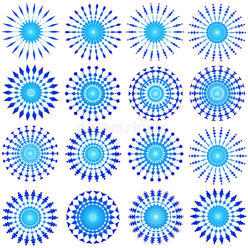 蓝色设计 库存例证