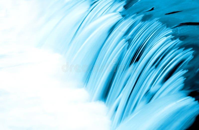 蓝色详细资料流水 免版税库存图片