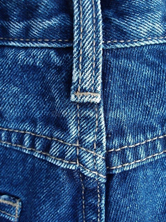 蓝色详述牛仔裤 免版税库存照片