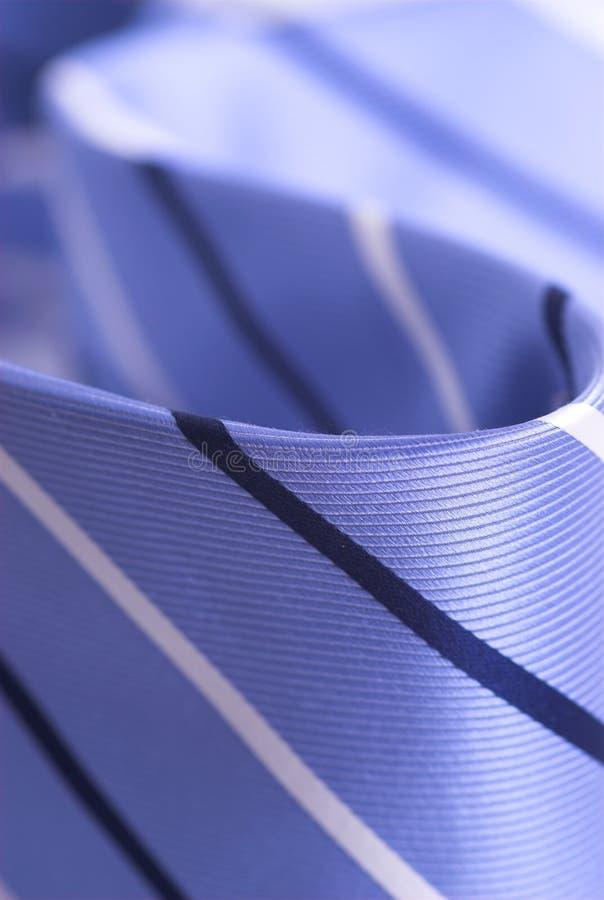 蓝色详述领带 库存图片