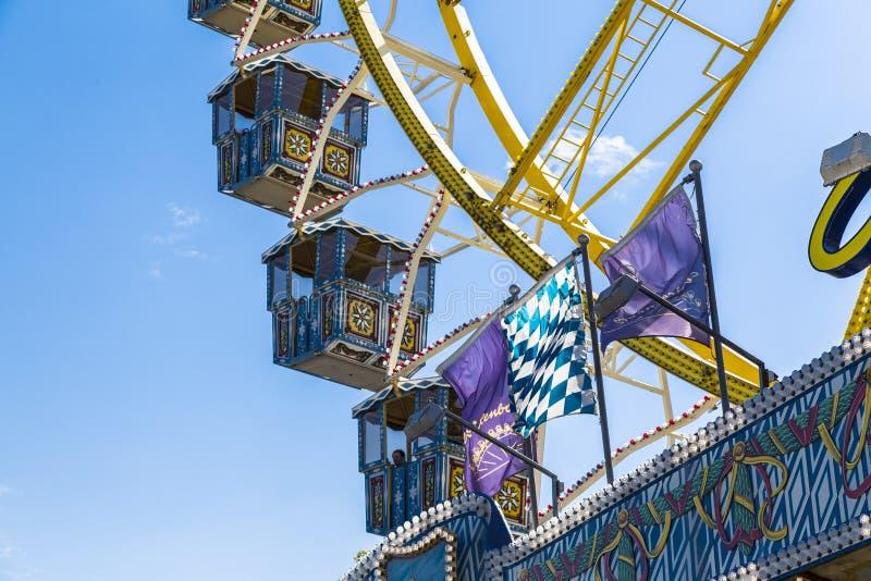 蓝色详细资料ferris天空轮子 库存图片