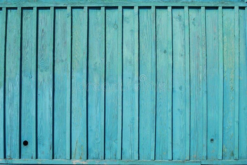 蓝色谷仓木墙壁 免版税库存照片
