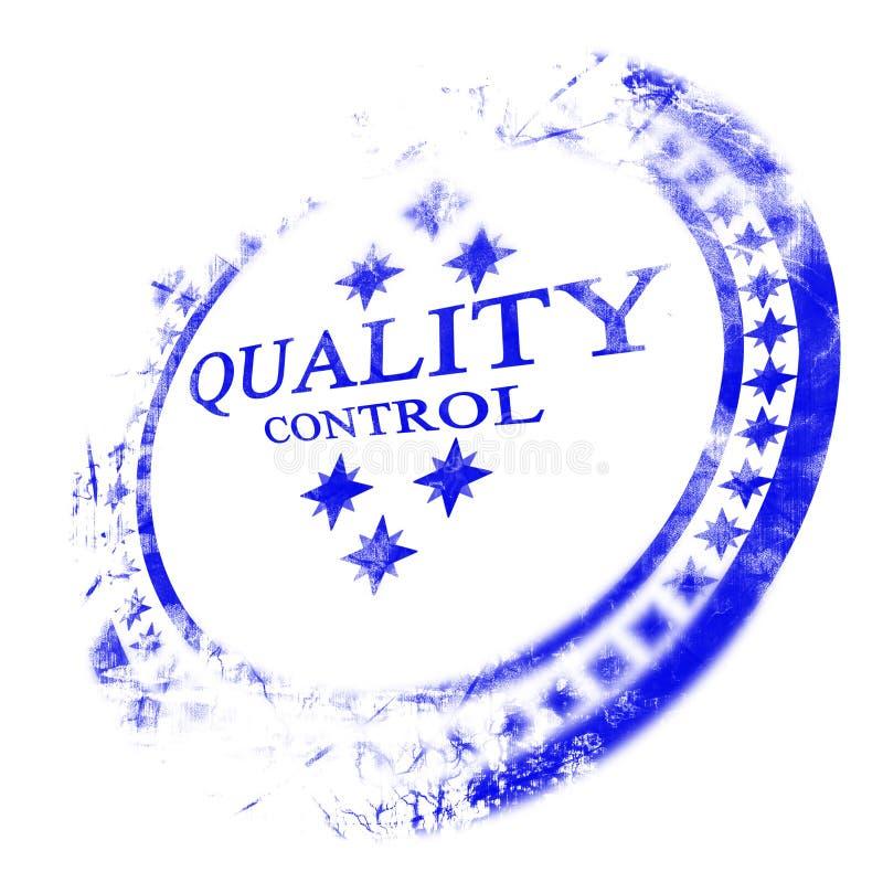 蓝色质量管理印花税 向量例证