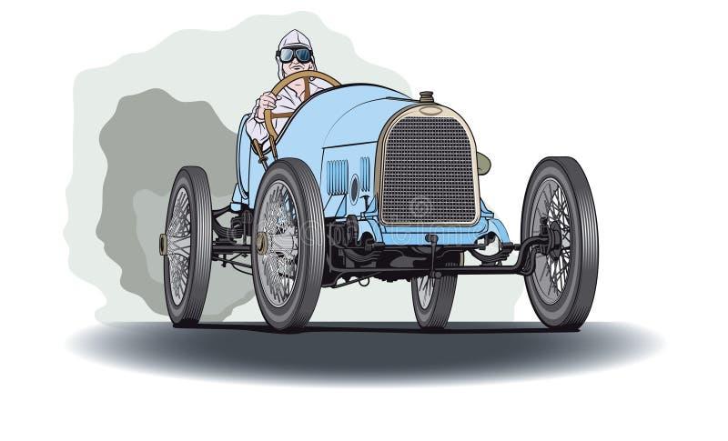蓝色赛车 向量例证