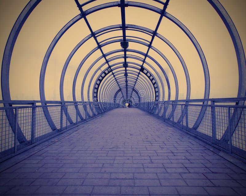蓝色走廊 库存照片