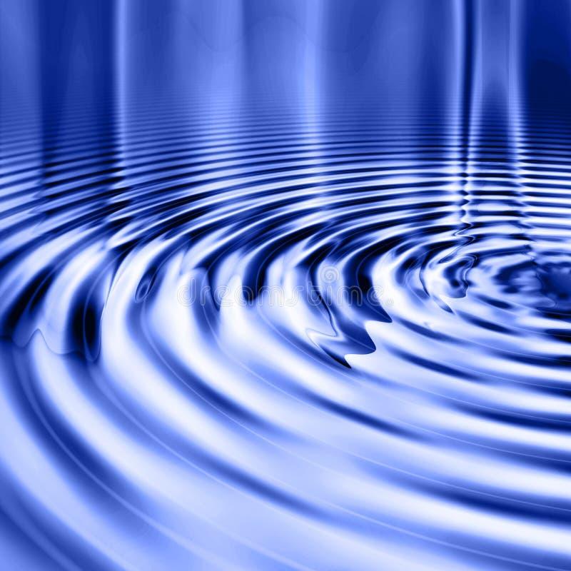 蓝色起波纹平稳的水 库存例证