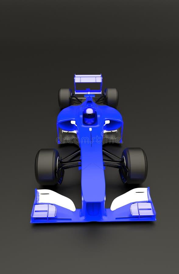 蓝色跑车,种族汽车,3d回报 向量例证