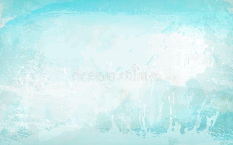 蓝色轻的抽象背景水平的横幅 库存例证