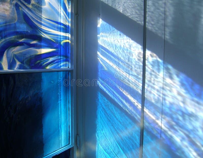 蓝色轻的池 免版税图库摄影