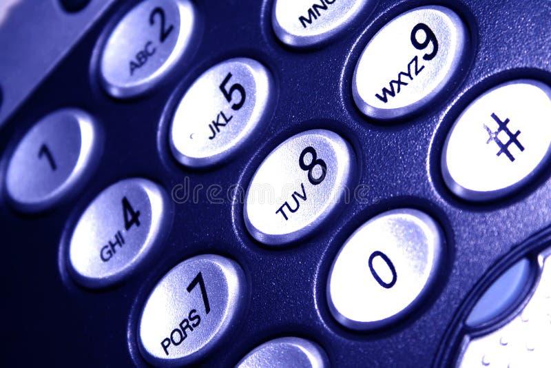 蓝色轻的电话 免版税库存照片
