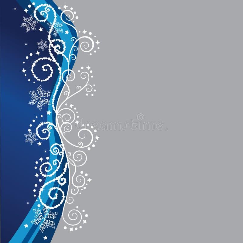 蓝色边界圣诞节 向量例证