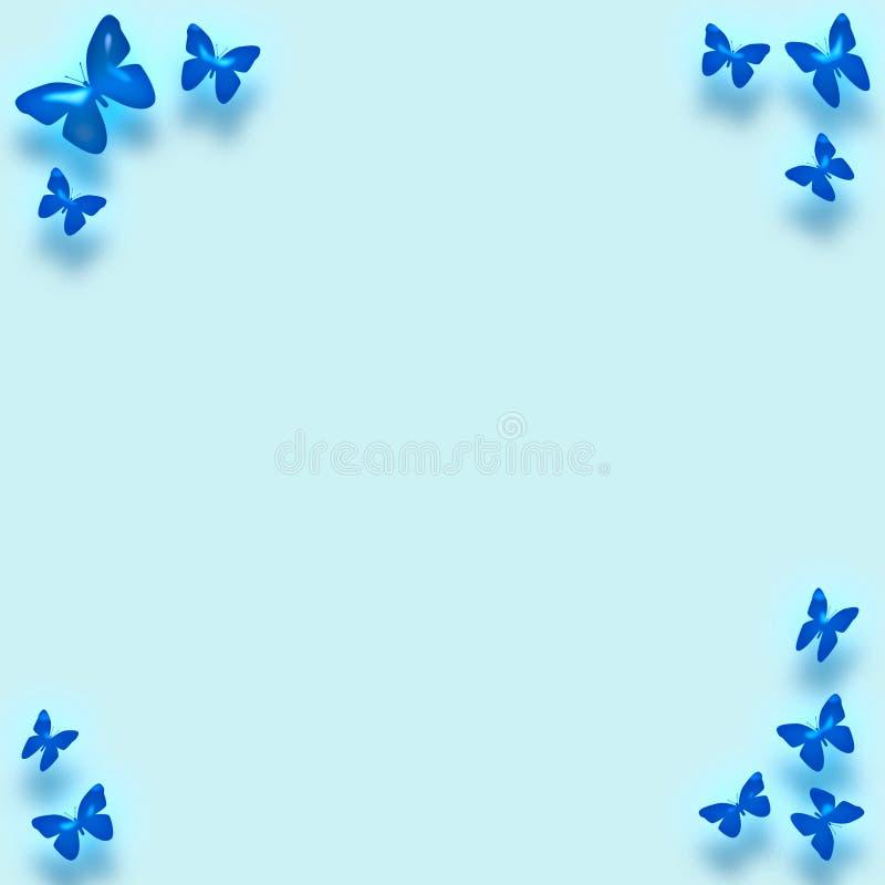 蓝色边界蝴蝶 皇族释放例证
