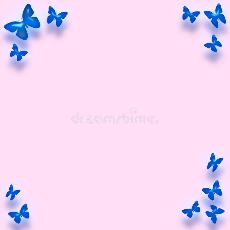 蓝色边界蝴蝶 库存例证