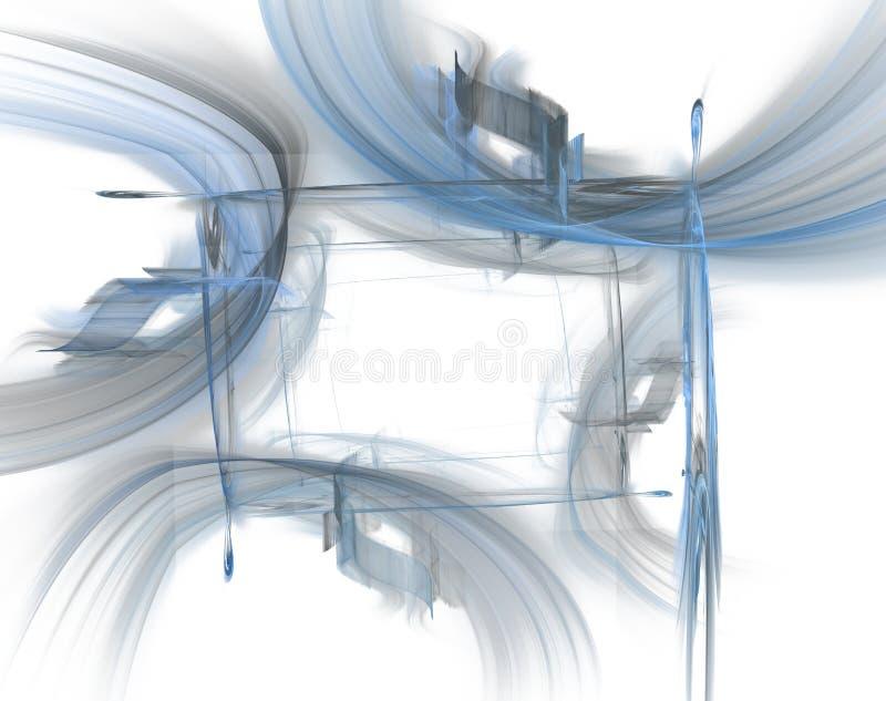 蓝色边界页 向量例证