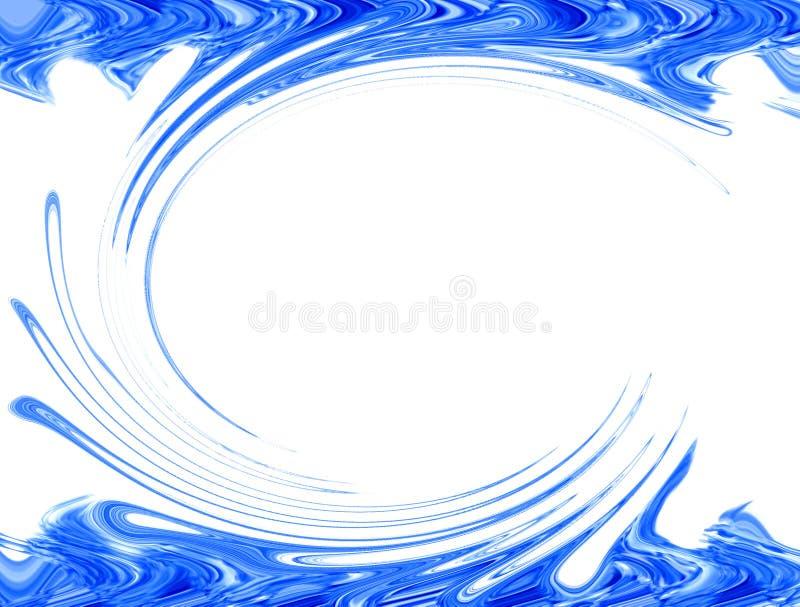 蓝色边界 库存例证