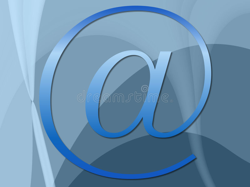 蓝色连接数 库存例证