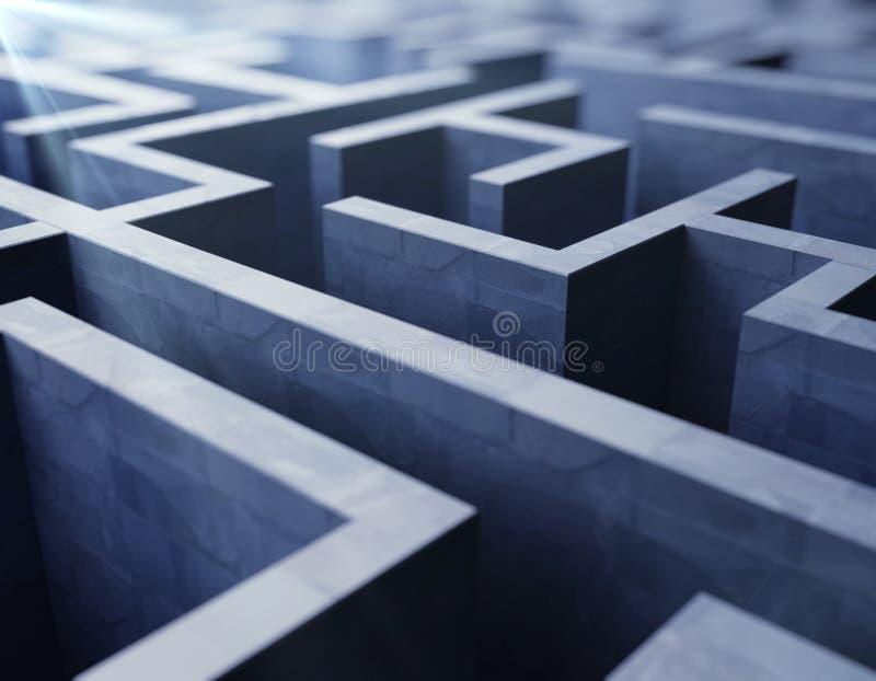 蓝色迷宫 库存例证