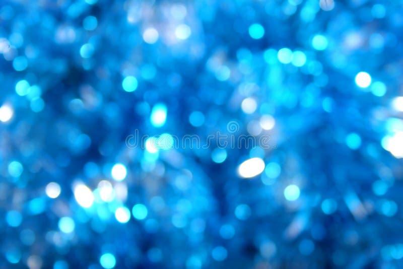 蓝色迷离焕发光 免版税库存照片