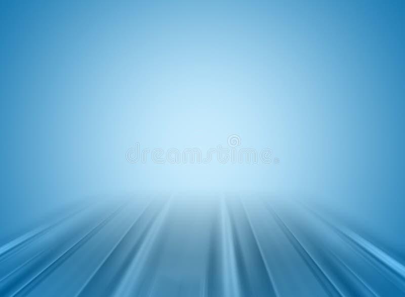 蓝色透视图 向量例证