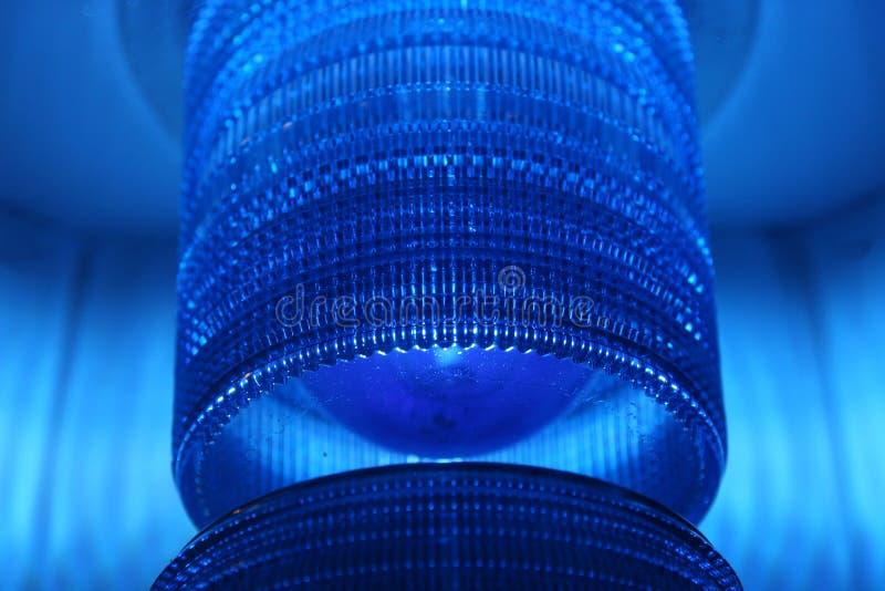 蓝色透镜 库存照片
