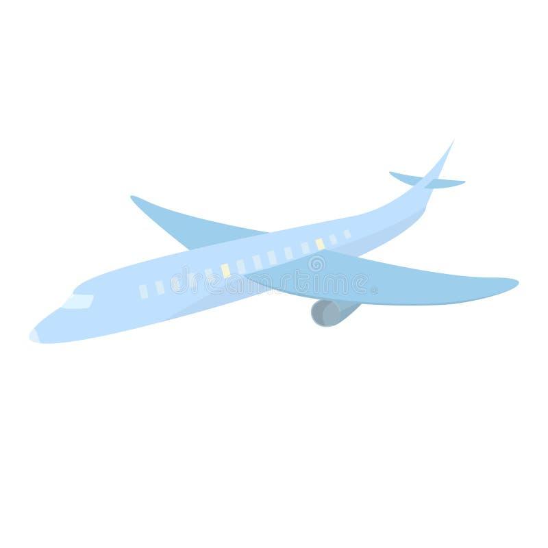 蓝色逗人喜爱的飞机动画片样式旅行被隔绝的传染媒介例证 库存例证