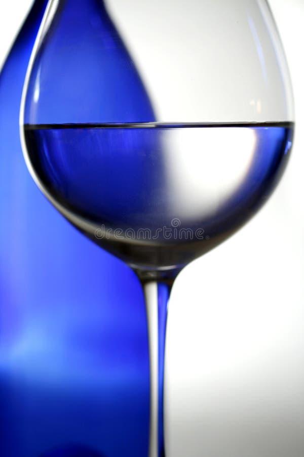 蓝色酒 图库摄影