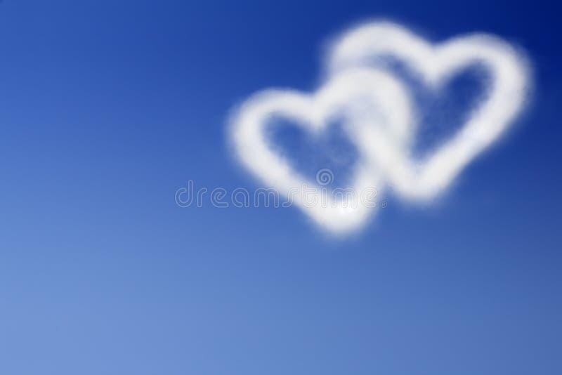 蓝色重点天空二 库存例证