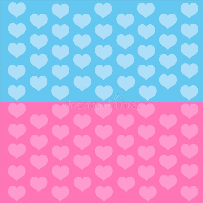 蓝色重点粉红色 库存例证