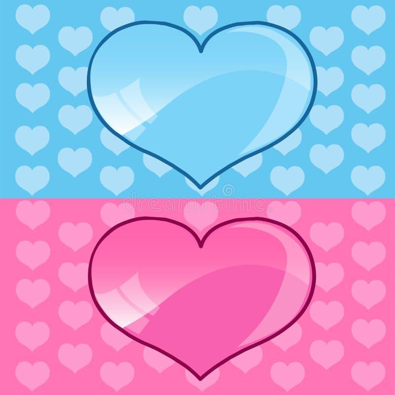 蓝色重点粉红色 向量例证