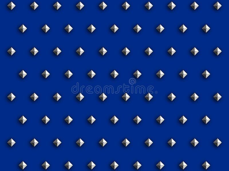 蓝色金刚石螺柱 向量例证