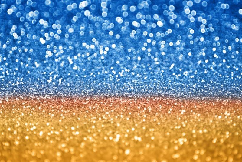 蓝色金子闪烁 库存照片