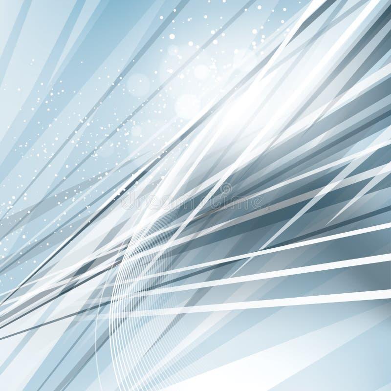 蓝色钢抽象背景 向量例证