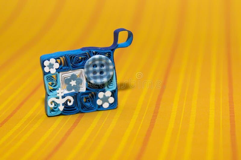 蓝色钱包 免版税库存照片